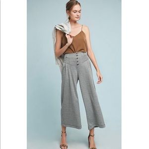 Maeve Anthropologie Houndstooth Wide Leg Pants